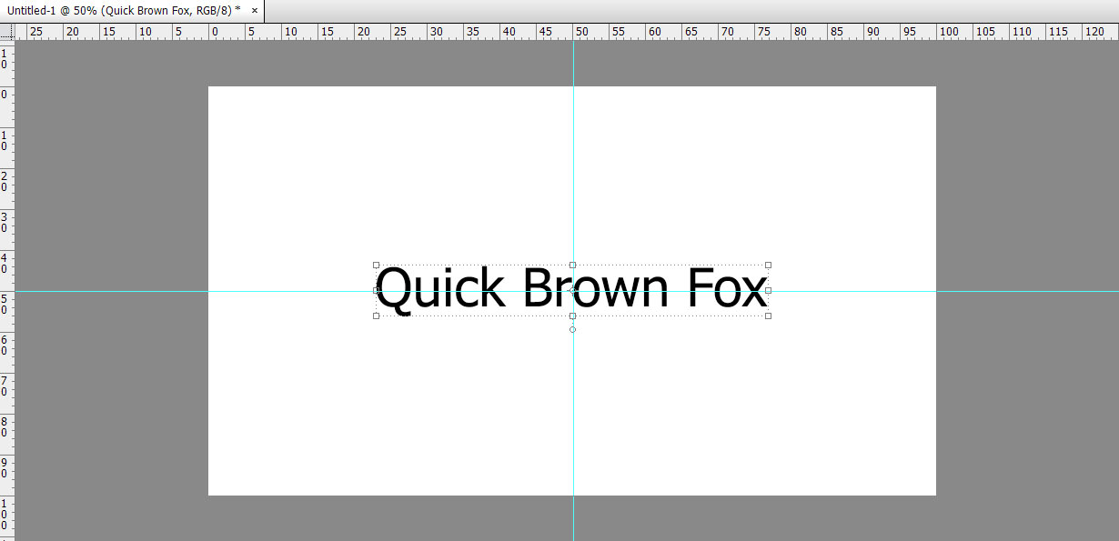 Centering text in photoshop