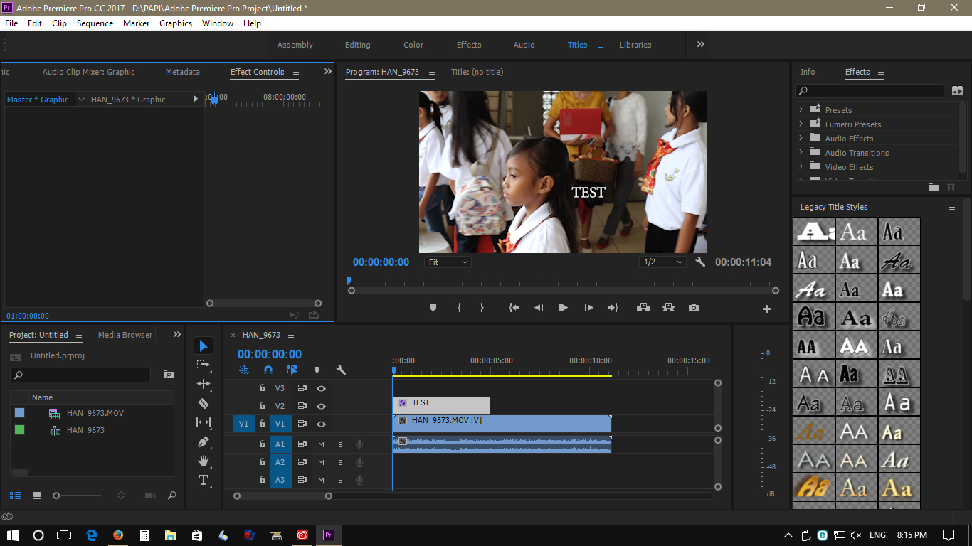 Solved No Graphics Bar In Adobe Premiere Pro Cc 2017 1 Adobe Support Community 9044015