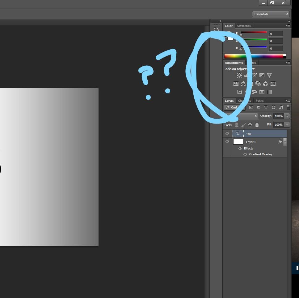 Photoshop menu disappeared
