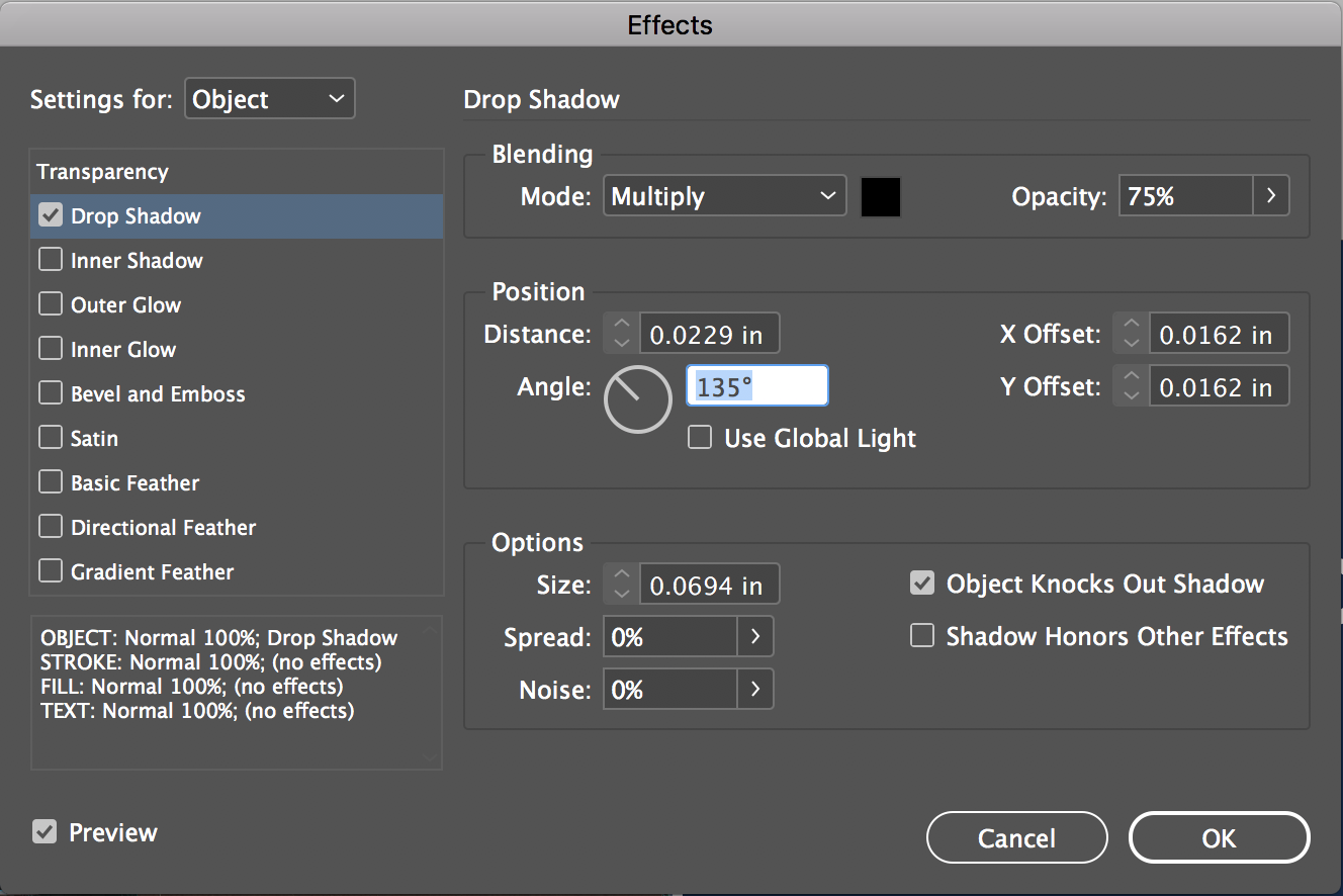 Image result for drop shadow indesign