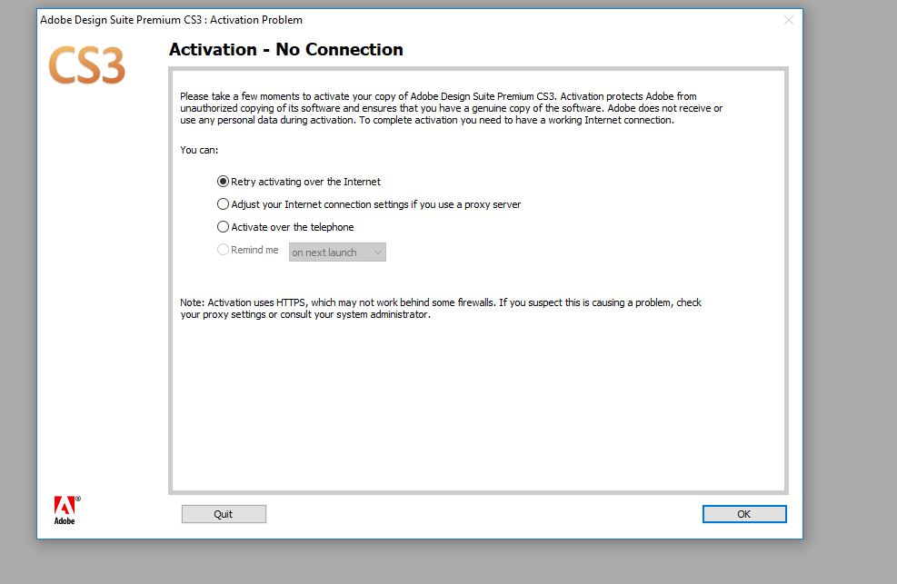 Solved Cs3 Displays Temporary Activation Error Adobe Support Community 9372758