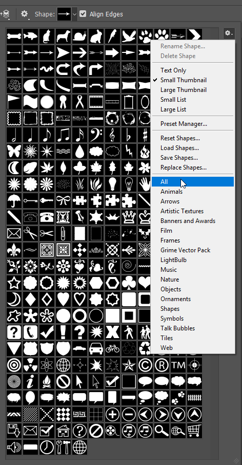 custom shapes for photoshop cc free download