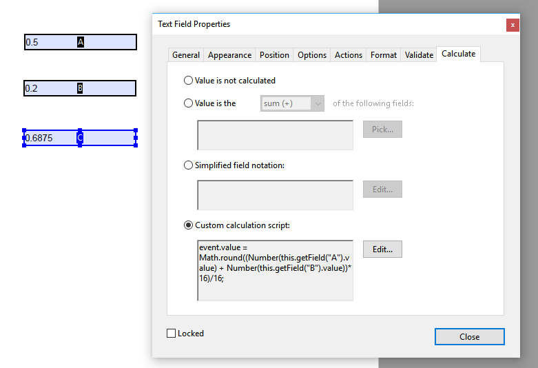Add calculated fields to a form