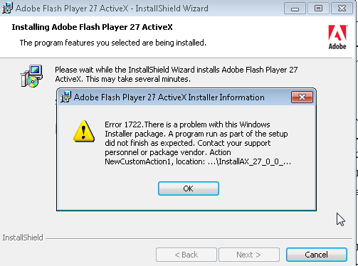 Solved: Flash Player ActiveX Version 27 0 0 170 - MSI inst