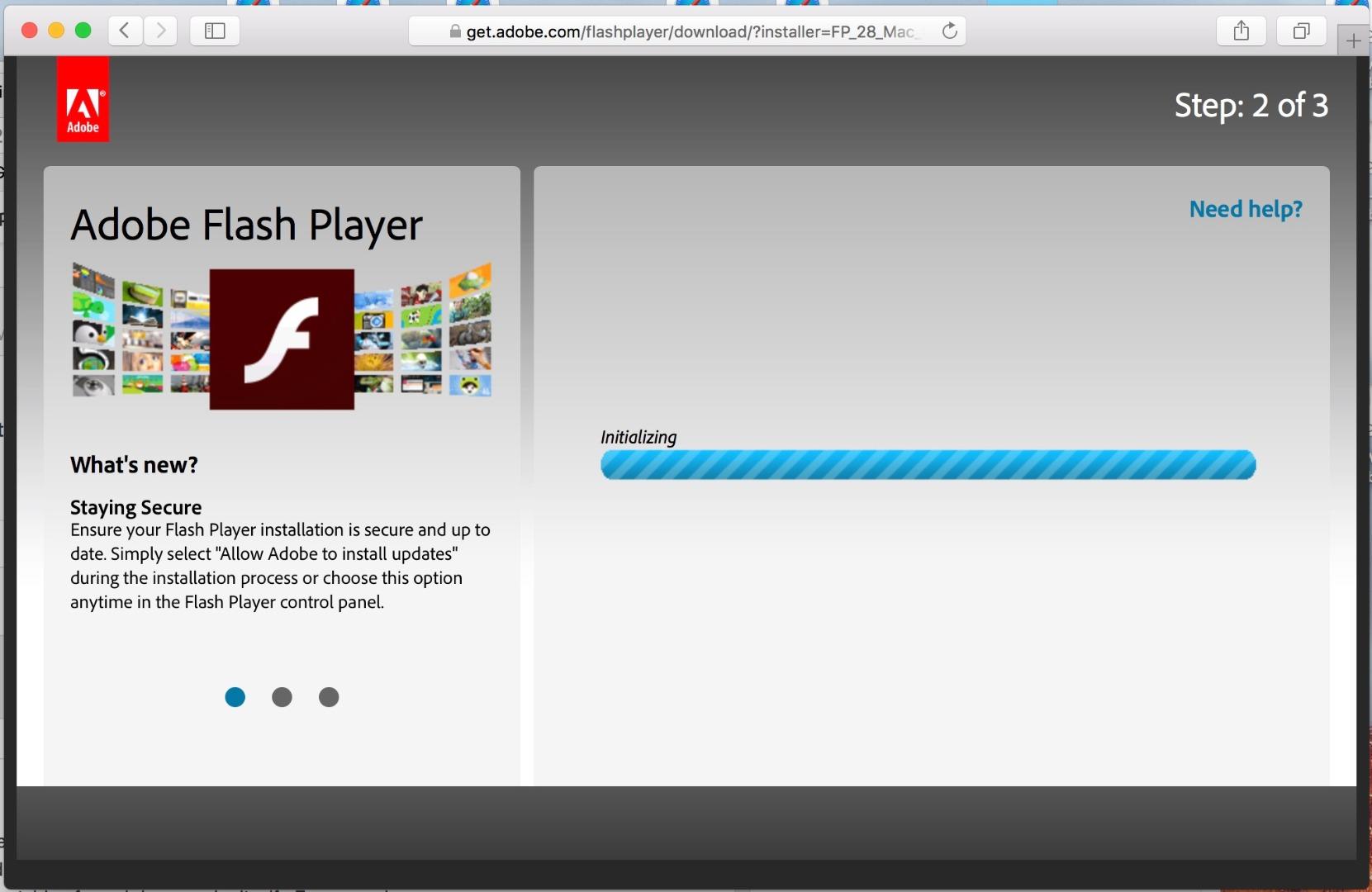 Adobe flash player download.