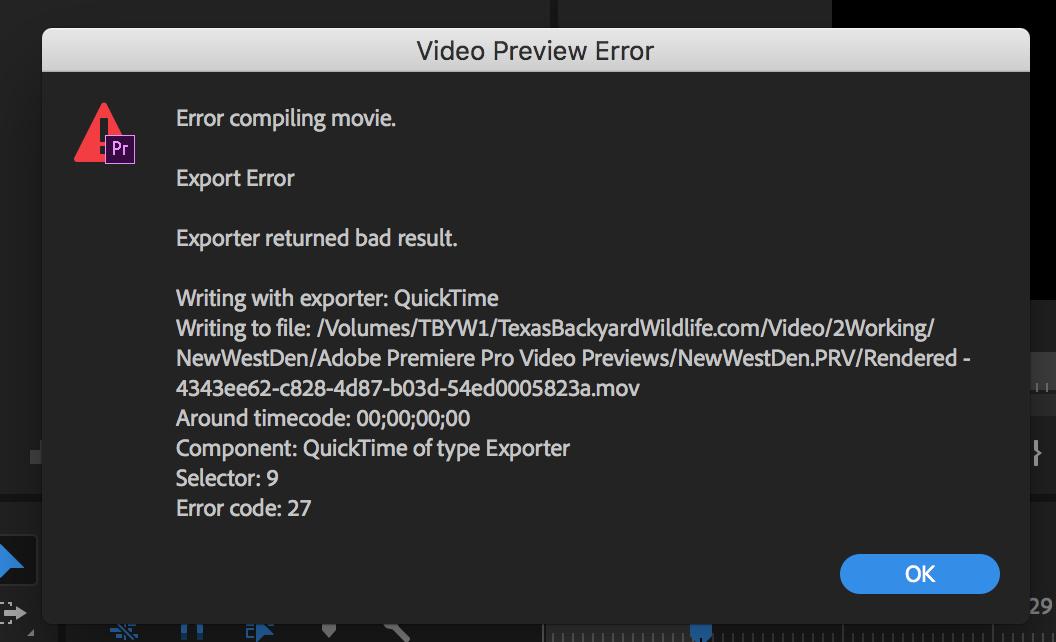 Premiere Pro CC - Error Compiling Movie - Adobe Support
