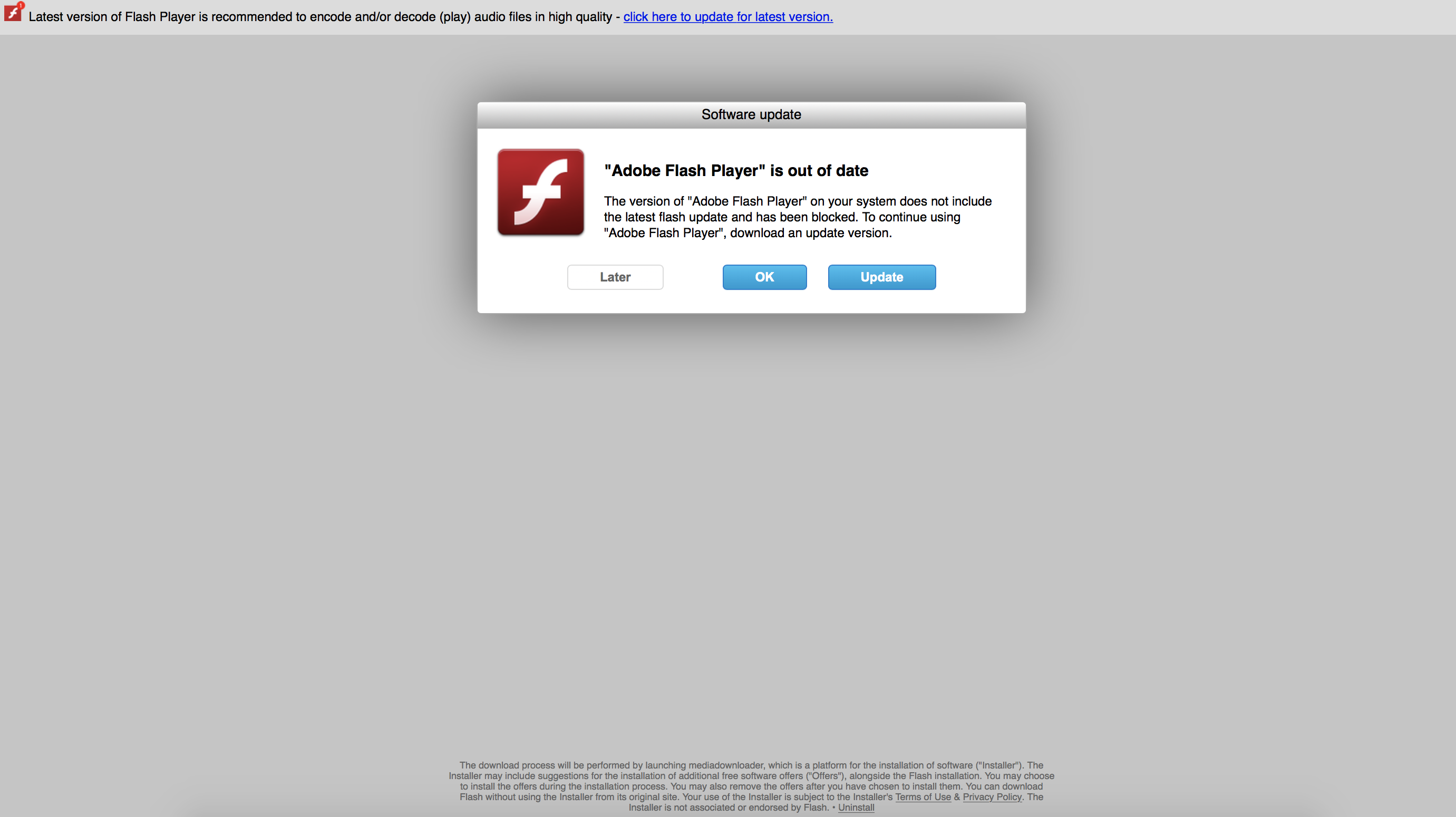 Beware of fake Flash Player update on OSX - Adobe Support