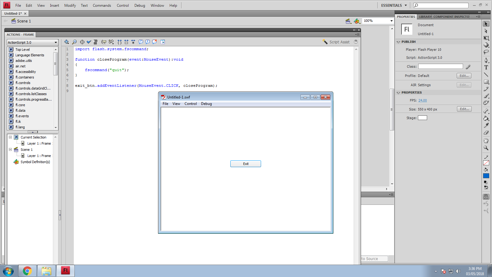 ActionScript code to close the program - Adobe Support
