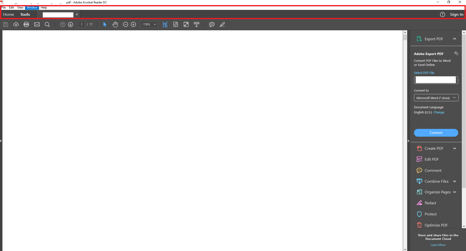 Solved: White bar / box covering options and toolbar - Adobe