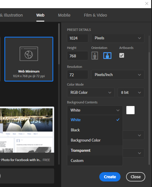 Solved No Transparent Option In Photoshop Cc Adobe Support