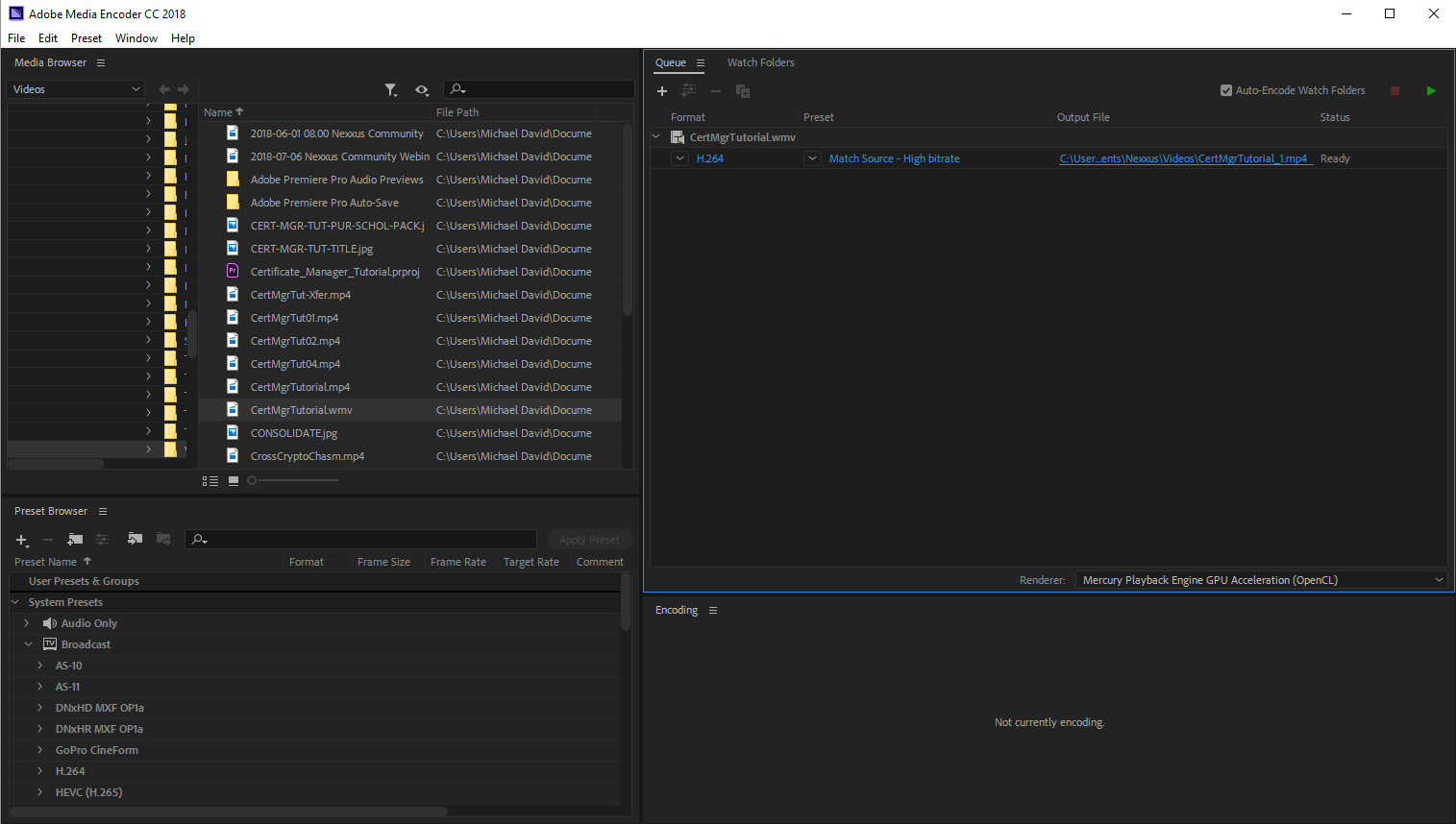 Solved: Exported mp4 files from Premiere Pro CC 12 0 will