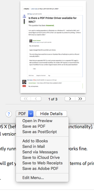 Solved Is There A Pdf Printer Driver Available For Mac Adobe