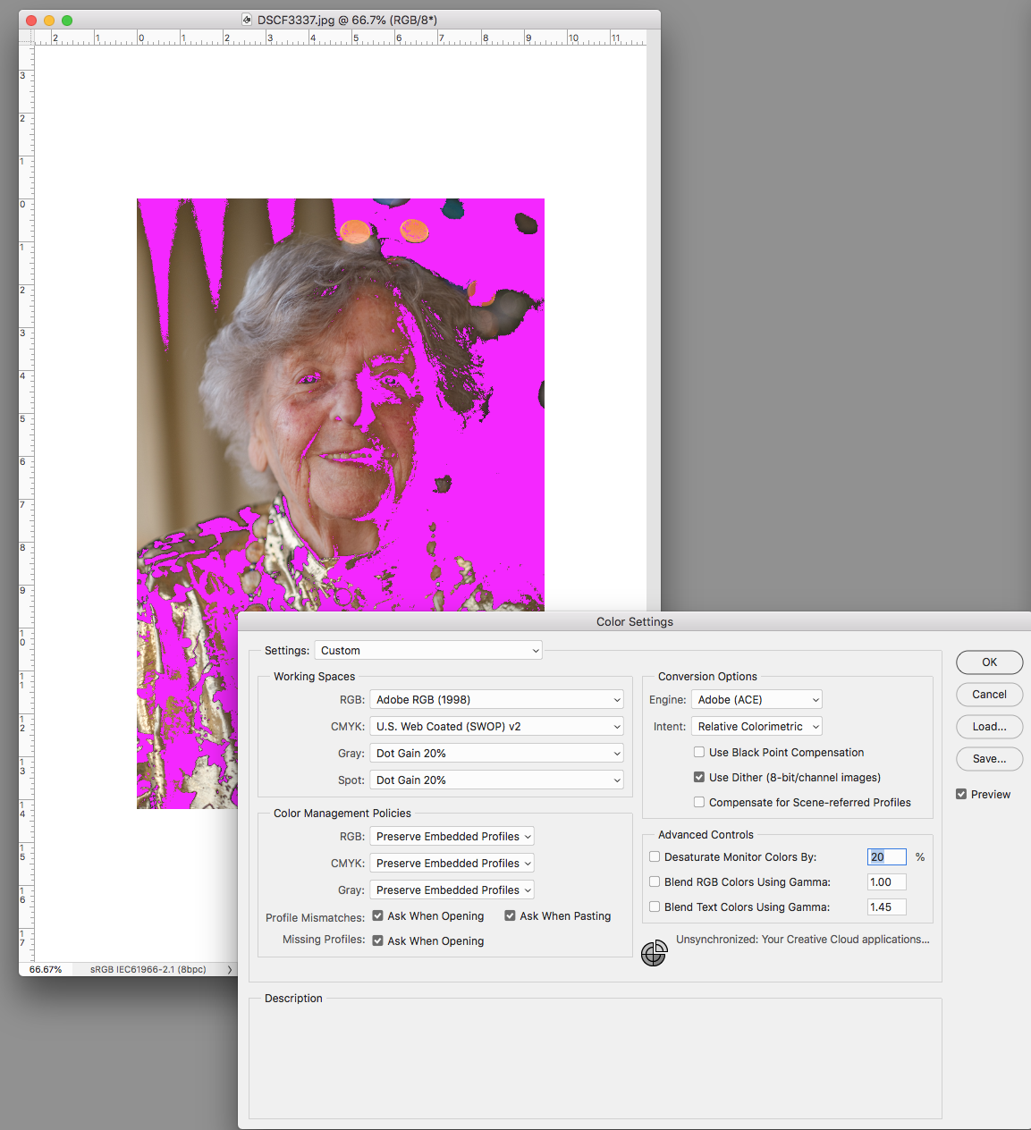 Indesign completely messes up the color of my imag