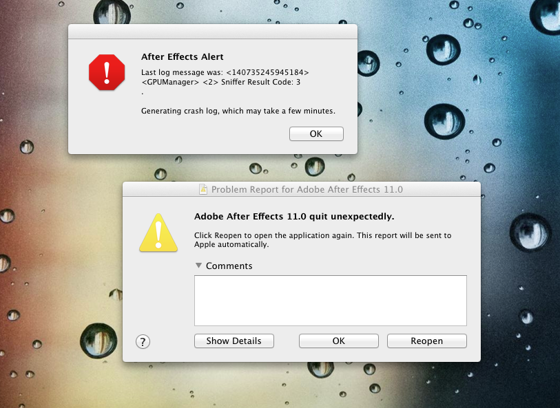 Solved: AE CS6 WONT OPEN!!!! Last log message was: <140735 ...