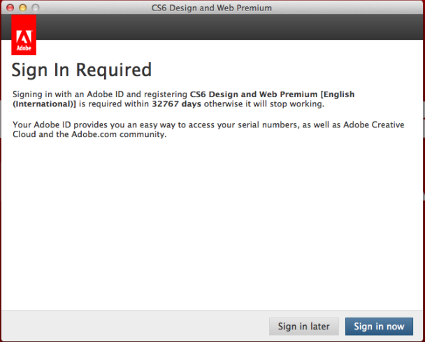 Cs6 Design And Web Premium Asking For Adobe Id Sig Adobe Support Community 4668025