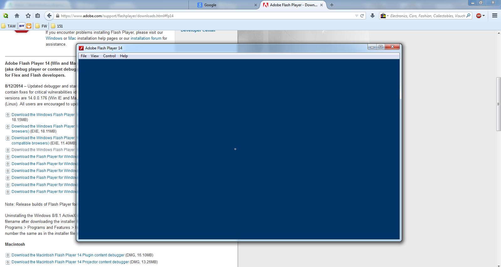 Adobe flash player file location