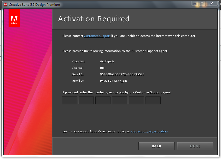 Solved Creative Suite 5 5 Design Premium Activation Probl Adobe Support Community 7213318