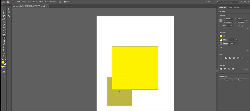 the shape builder detected it