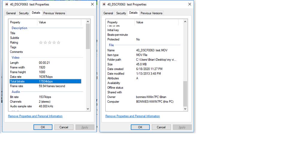 adobe premiere elements 2020 - properties of 40_DSCF0063 test.png