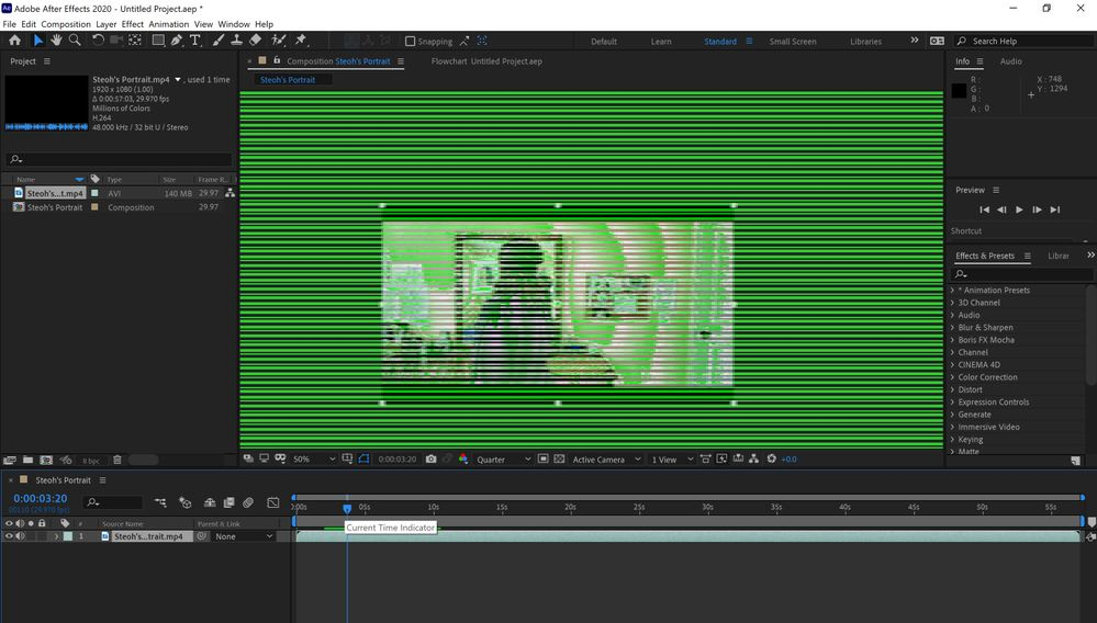 problem on After Effects
