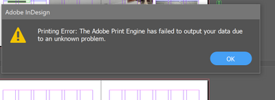 Stops flattening image by the last couple pages and shows this error.