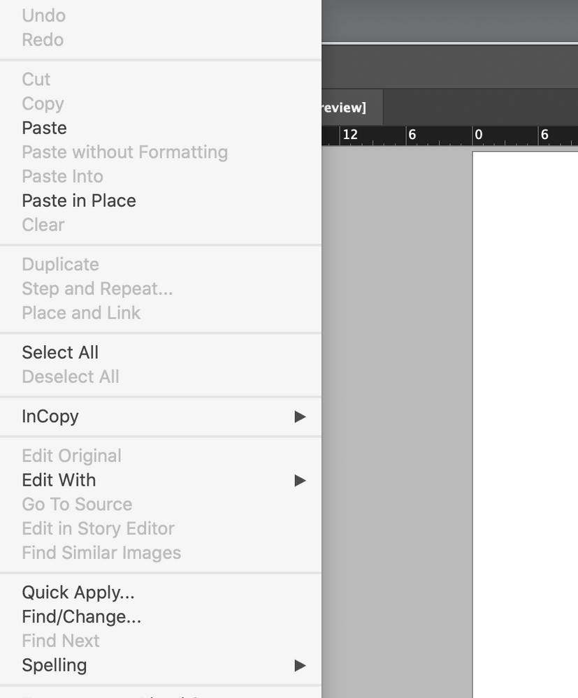 Keyboard shortcuts missing