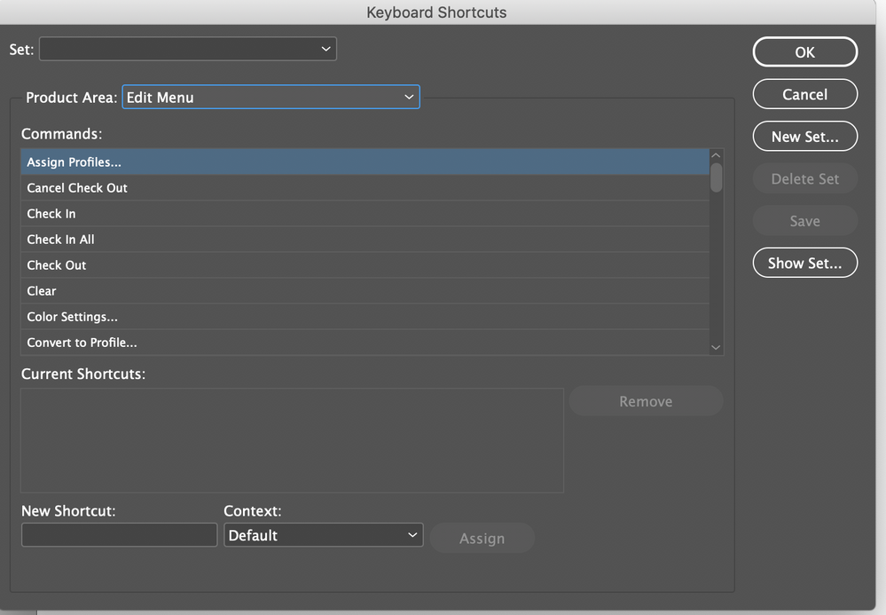 Keyboard shortcuts missing in preferences