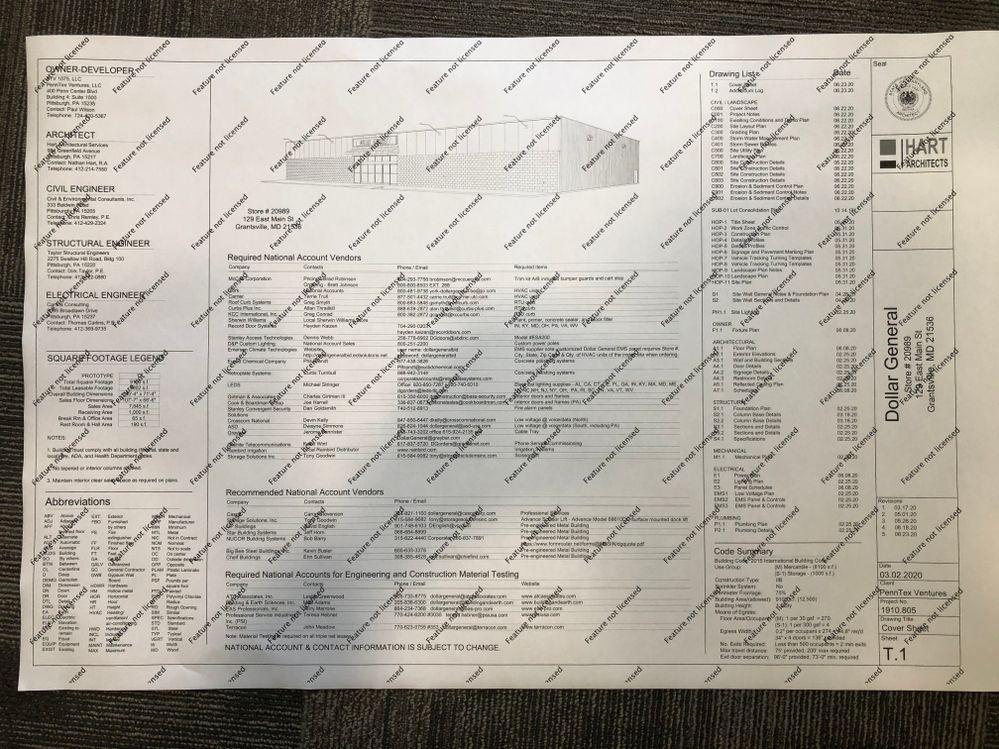 """24"""" x 36"""" plan sheet"""