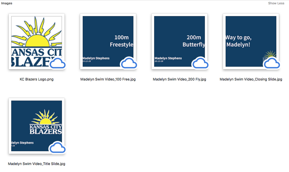 The images in finder (correct)