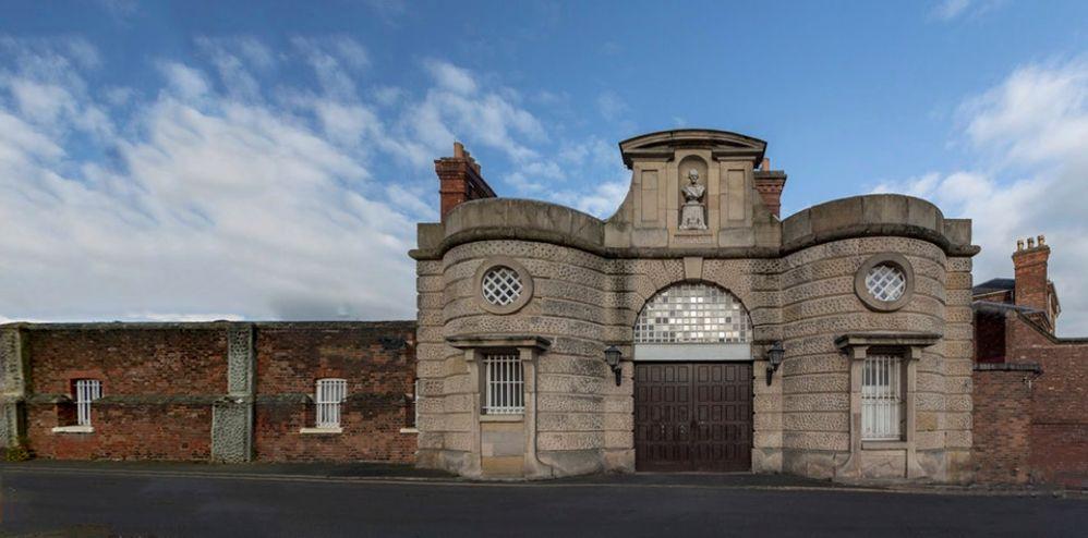 Prison entrance