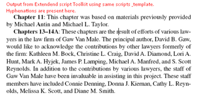 Extendend script toolkit