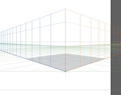 added rectangle on perspective plane