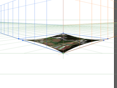 applied envelope distort, but image is pulled away from the edges of the shape