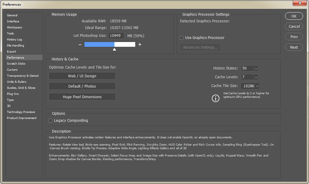 Adobe Photoshop v21.2 Detected Graphics Processor Blank.png
