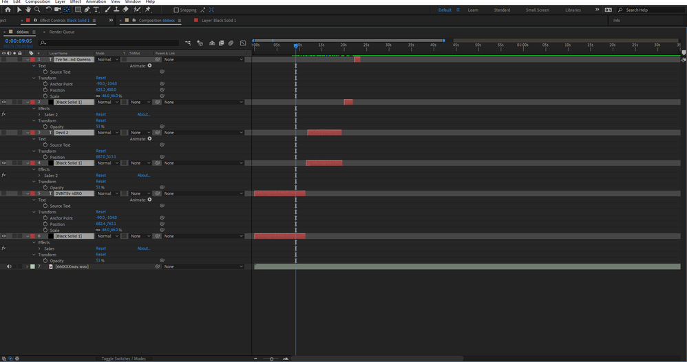 My project after deleting most layers to try and isolate the issue.