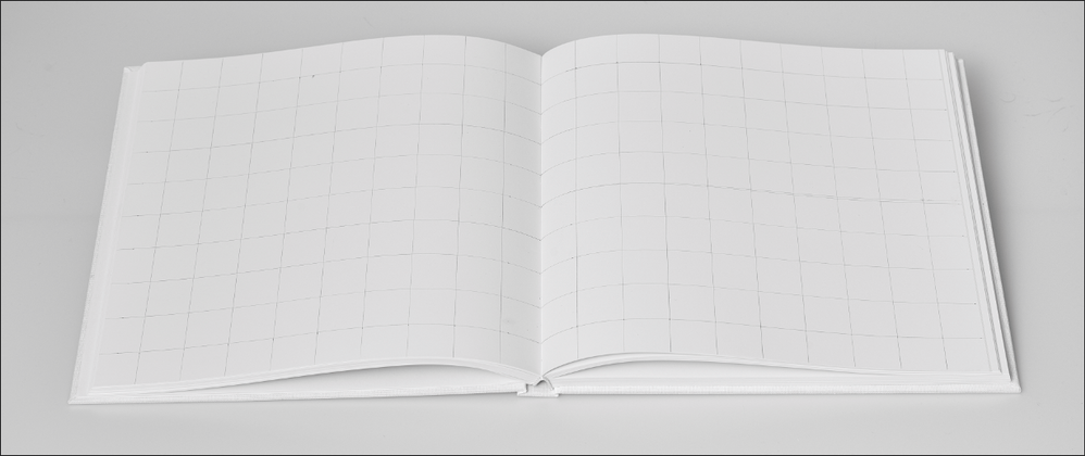 Photo of blank book