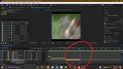 at the first frame of my second clip