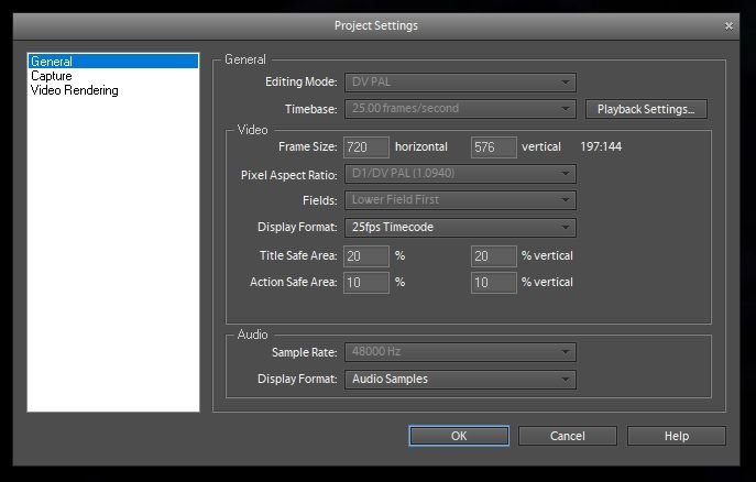 General Project Settings