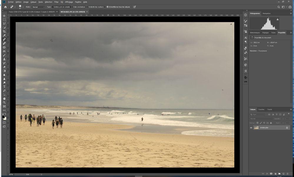 Affichage JPEG dans Photoshop CC
