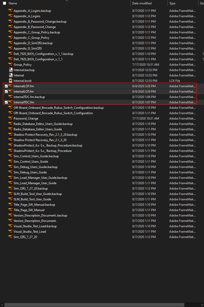 Book Version of LOT, LOF, and LOT files (renamed)
