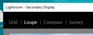 Secondary Monitor Window