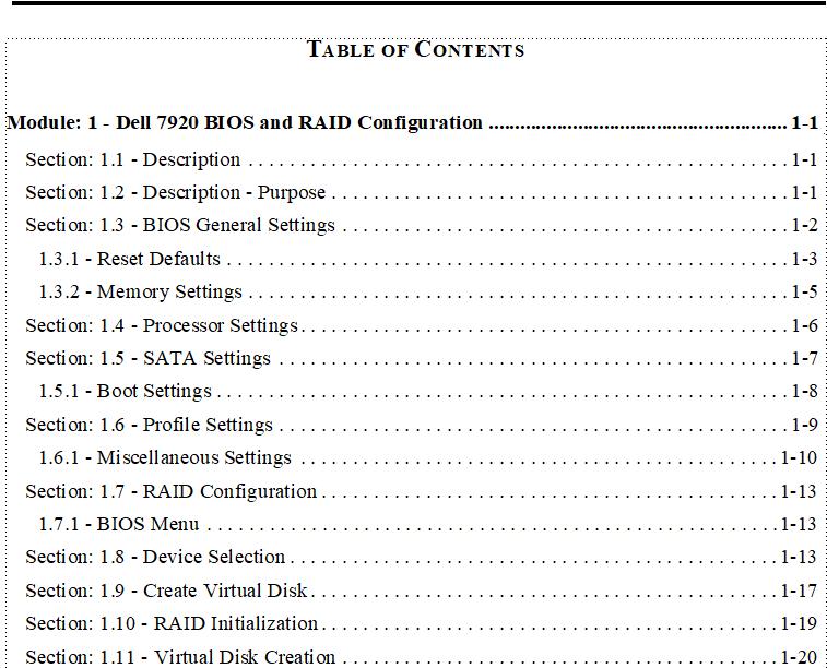 TOC Module 1 in FrameMaker Doc