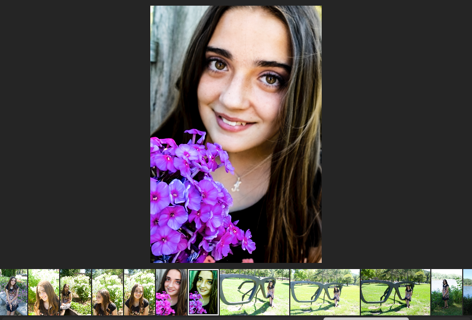 the edited photo in lightroom, if you can see on the bottom the same image is green
