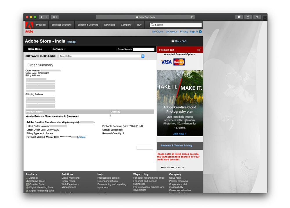 order find.com screen