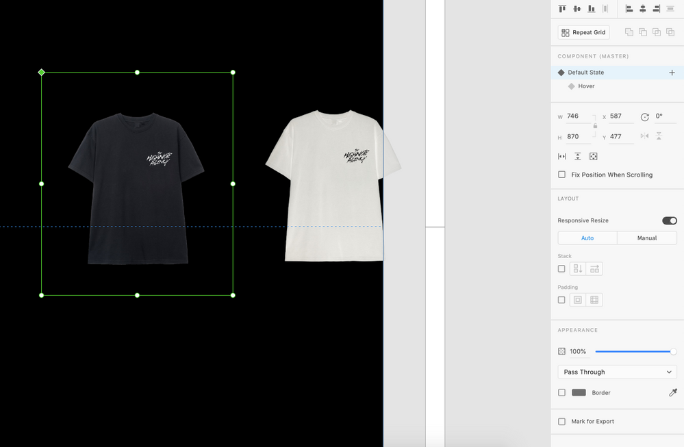 The shirt on the left is the original image, I am trying to make it so that when I mouse over it changes to the image on the right. (Inverted image of the same shirt)