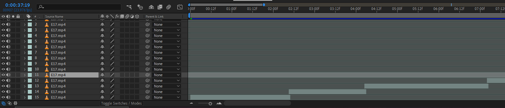 Here you can clearly see how the scenes are overlapping even though I used O and [ shortcut