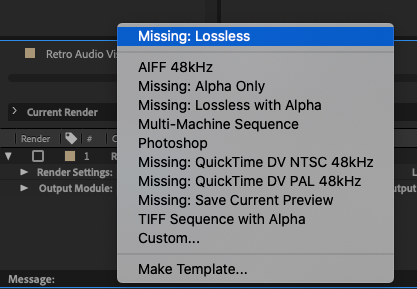 Export File Type Lossless