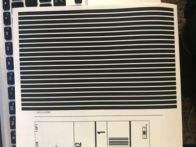 Sample of lines that are printing