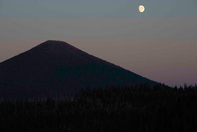 Moon over BlackButte
