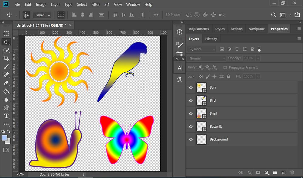 Custom Shapes over Transparent Background
